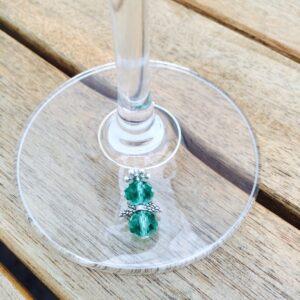 6 teiliges Gläsermarkierer Set Schutzengel-Kristall