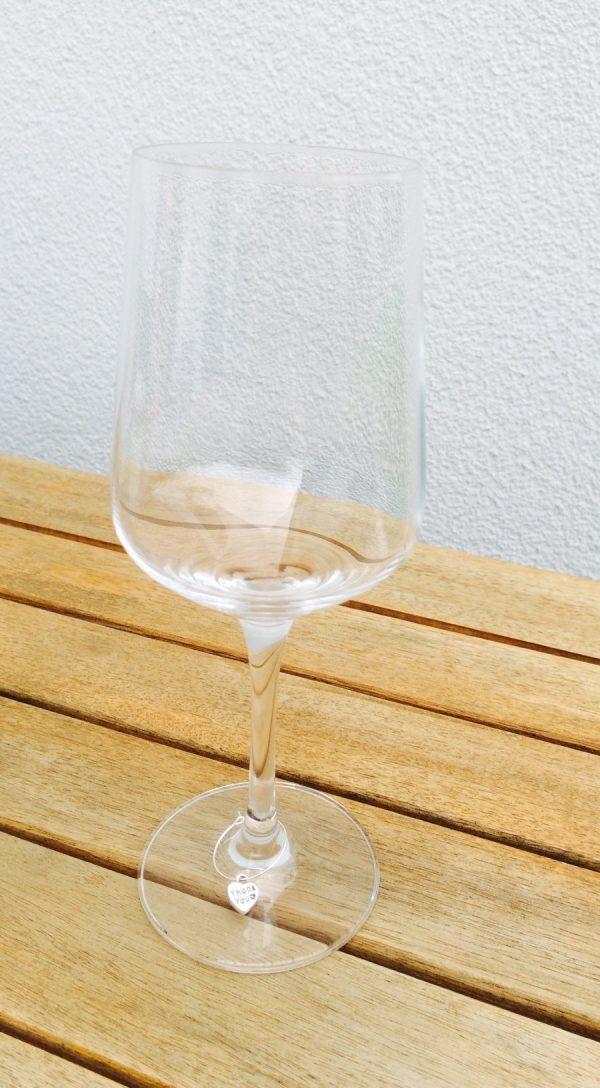 6 teiliges Gläsermarkierer Set Thank you