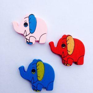 5 Stück Holzperlen Elefant