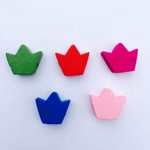 5 Stück Holzperlen Krone