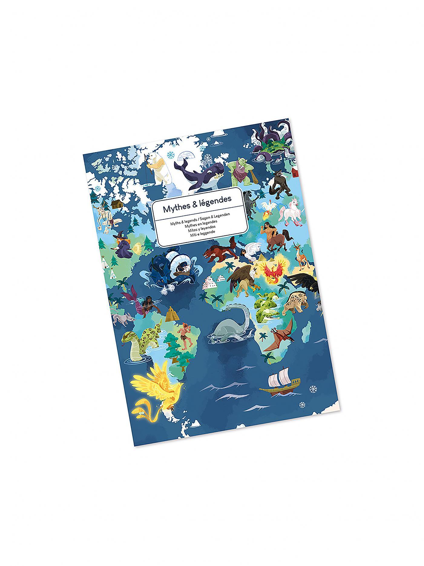 Janod J02680 Edukativ Puzzle Sagen und Legenden