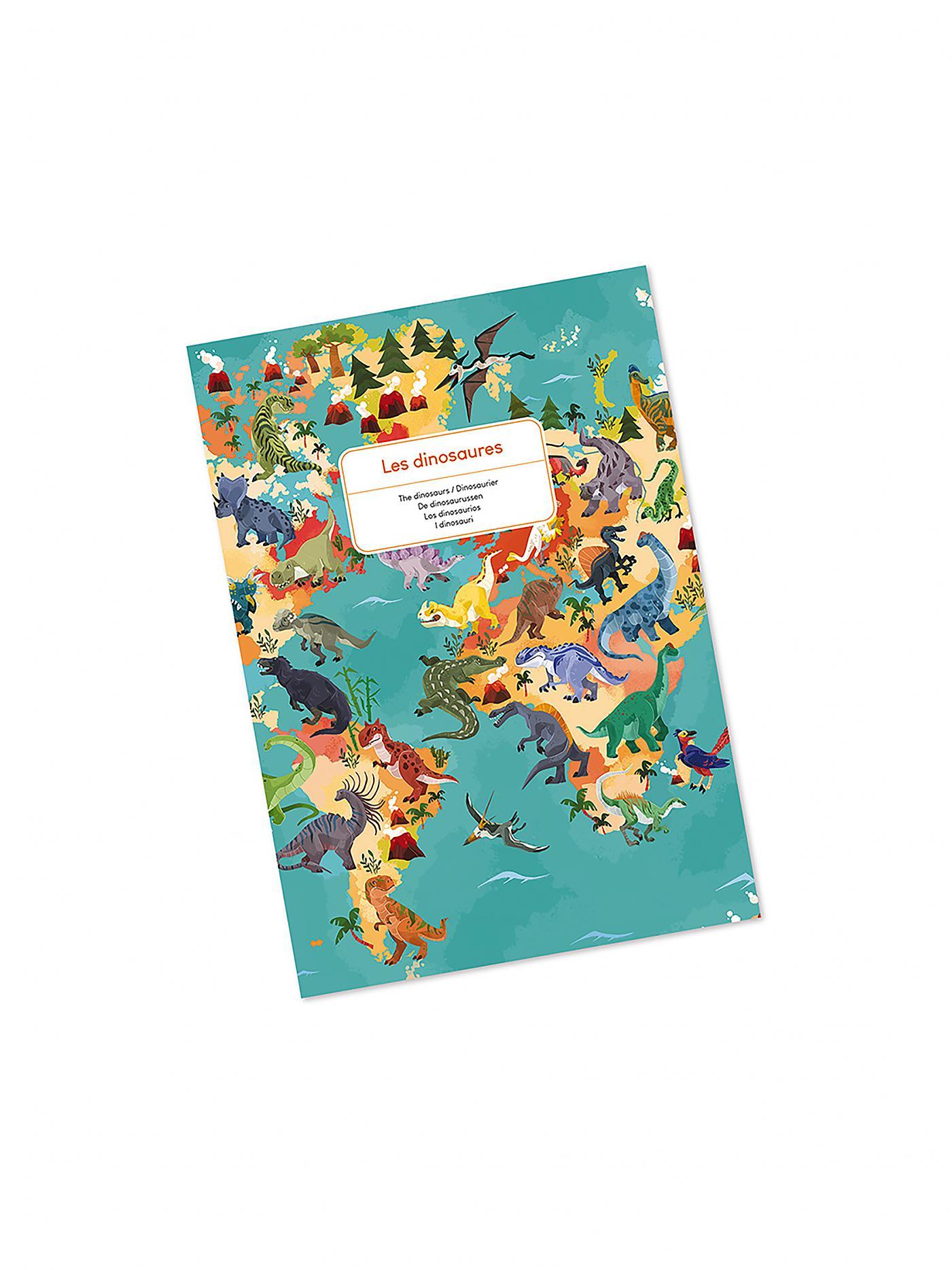 Janod J02679 Edukativ Puzzle Dinosaurier