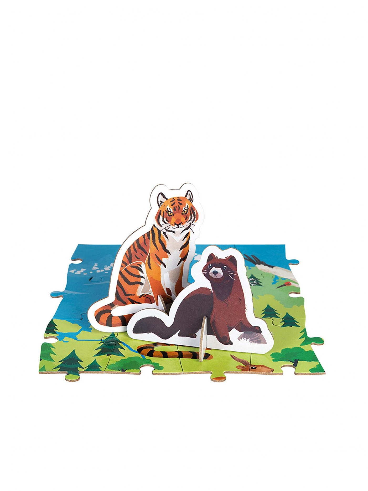 Janod J02676 Edukativ Puzzle Gefährdete Tiere