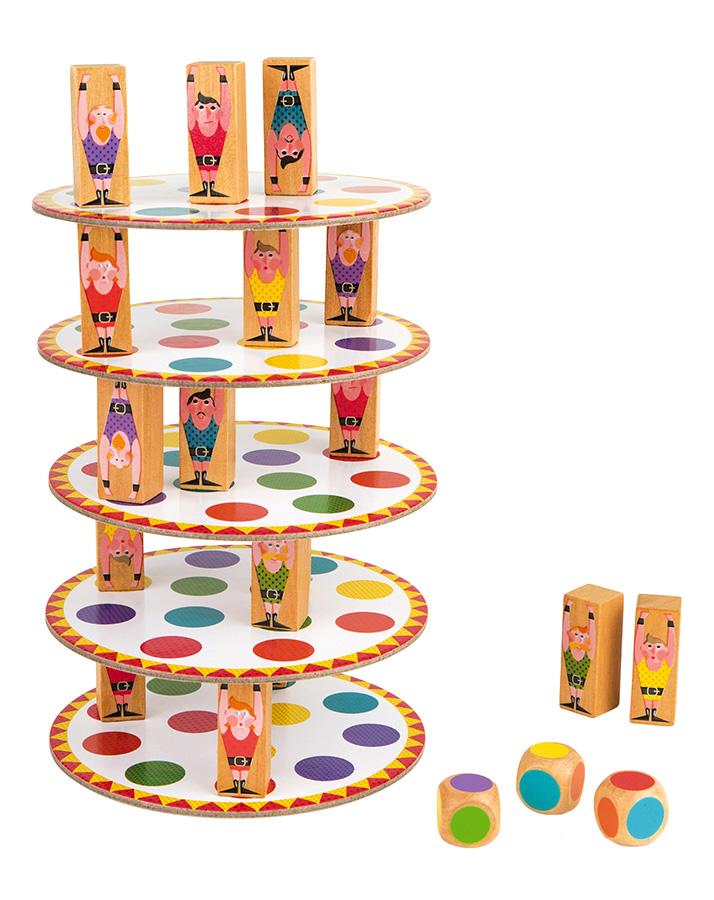 Janod 02757 Geschicklichkeitsspiel Wackelturm Acrobat