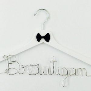 Kleiderbügel Bräutigam silber