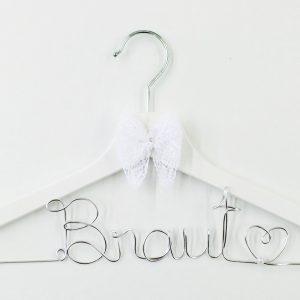 Kleiderbügel Braut silber