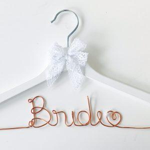 Kleiderbügel Bride kupfer