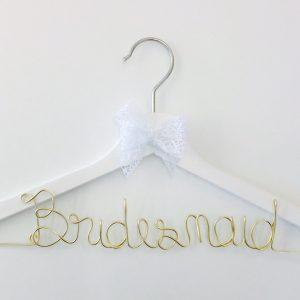 Kleiderbügel Bridesmaid gold