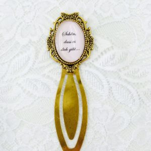 Cabochon Lesezeichen gold oval personalisiert