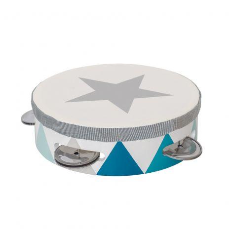 JaBaDaBaDo Tamburin Trommel blau