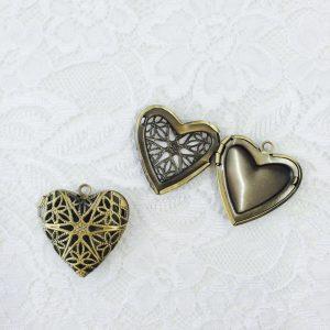 Medaillon zum Öffnen Herz gold