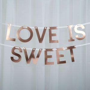 Love is sweet Girlande roségold/kupfer