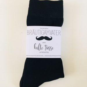 """Socken mit Banderole """"Für den Bräutigamvater"""""""
