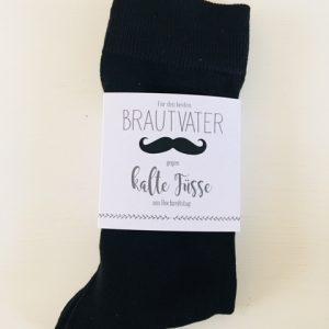 """Socken mit Banderole """"Für den Brautvater"""""""