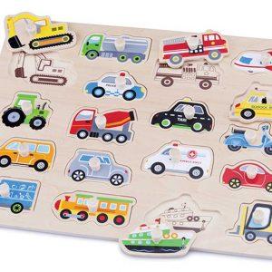 10536 Knopfpuzzle Fahrzeuge