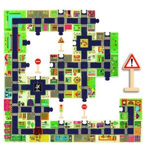 Djeco 7161 Riesen Puzzle Die Stadt