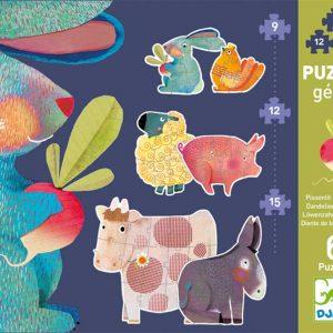 Djeco 7145 Riesen Puzzle Löwenzahn & Freunde