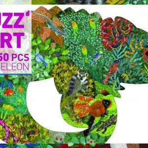 Djeco 7655 Puzzle Puzzart Chamäleon
