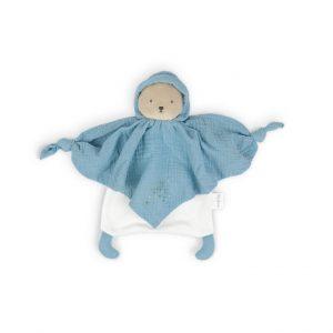 Kaloo Schmusetuch aus Bio-Baumwolle Bär blau