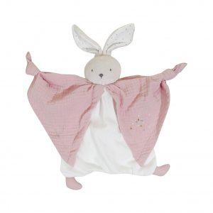 Kaloo Schmusetuch aus Bio-Baumwolle Häschen rosa