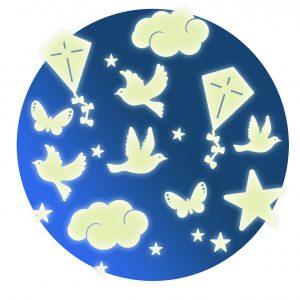 Djeco 4590 Leuchtsterne In der Luft