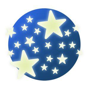 Djeco 4592 Leuchtsterne Sterne