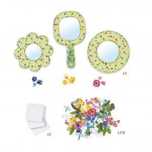 Djeco 7908 DIY 3 Spiegel zum Verzieren – Florale Zartheit