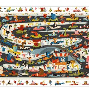 Djeco 7564 Puzzle Auto Rally – 54 pcs