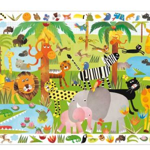 Djeco 7590 Puzzle Dschungel – 35 pcs