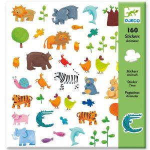 Djeco 8841 Stickerset Tiere gestalten