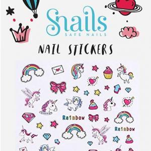 SNAILS Kinder 3D-Nail Tattoo Unicorn