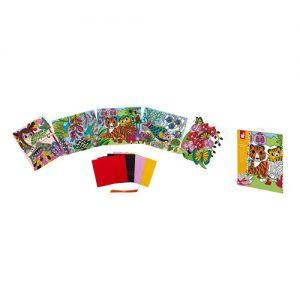 Janod Kreativ-Set Rubbelkarten SAMT zum Bemalen 5 Stk. J07792
