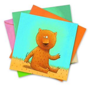 Djeco 8932 Bastelset Basteln mit Sticker Tiere gestalten