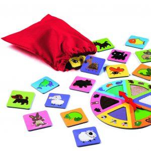 Djeco 8129 Lernspiel Tactilo Lotto Tiere