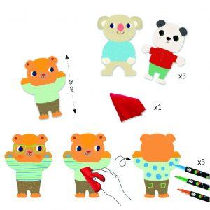Djeco 8992 Malset Cuties, Knuffige Tiere