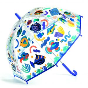Djeco 4710 Regenschirm Kinder Fische