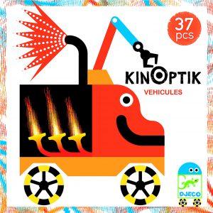 Djeco 5601 Kinoptik Fahrzeuge – 38 pcs