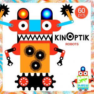 Djeco 5611 Kinoptik Roboter 58 Stück