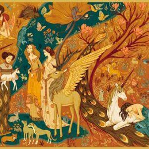 Djeco 7624 Puzzle – Galerie Unicorn Garden 500 Teile