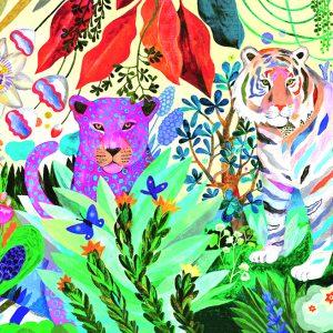Djeco 7647 Puzzle – Galerie Regenbogen Tiger 1000 Teile