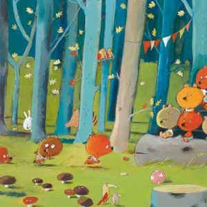 Djeco 7636 Puzzle – Galerie Forest Friends 100 Teile