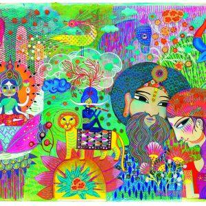 Djeco 7649 Galerie Puzzle Magisches Indien 1000 Teile
