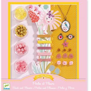 Djeco 9801 Perlenset Perlen und Blumen