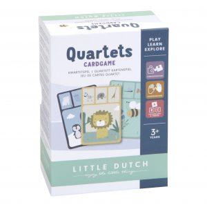 Little Dutch LD4481 Kartenspiel Quartett Tiere