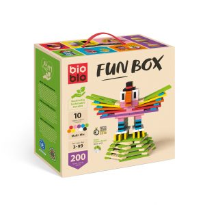 Bioblo Bausteine Fun-Box Multi-Mix mit 200 Bausteinen