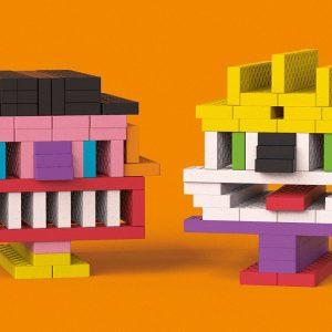 Bioblo Bausteine Fun-Box Multi-Mix mit 200 Bausteinen