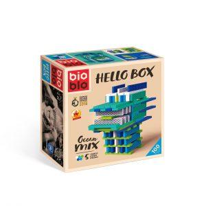 """Bioblo Bausteine Hello Box """"OCEAN-MIX"""" mit 100 Bausteinen"""
