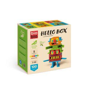 """Bioblo Bausteine Hello Box """"RAINBOW-MIX"""" mit 100 Bausteinen"""