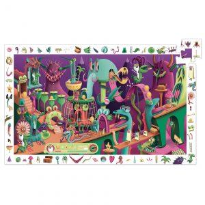Djeco 7560 Puzzle Entdecker in einem Videospiel 200 Teile