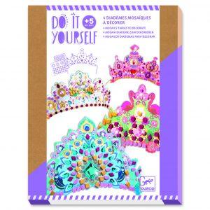 Djeco 7901 DIY Mosaik-Bastelset Diademe – Wie eine Prinzessin